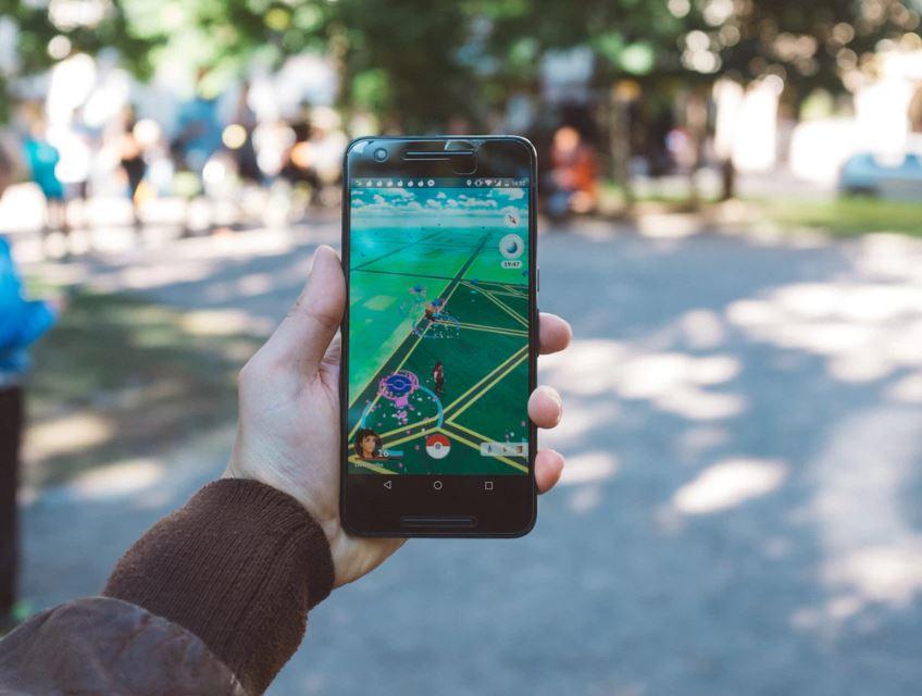 Pokemon Go on smartphone