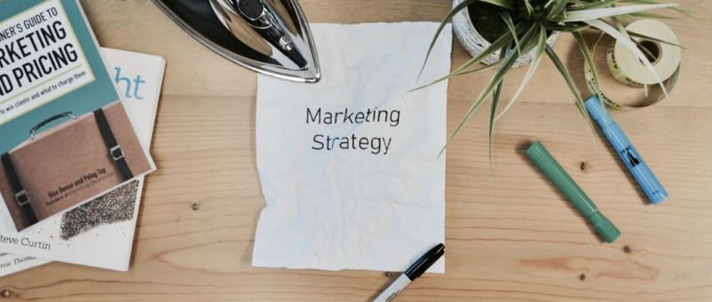 Image of a paper which says Marketing Strategy