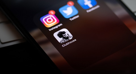 iPhone with social media apps