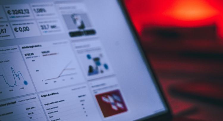 Image of digital marketing dashboard on laptop